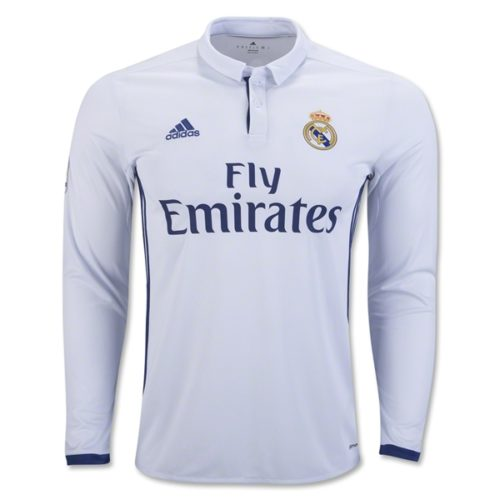 Jersey Real Madrid Home Long Sleeve  2016-2017