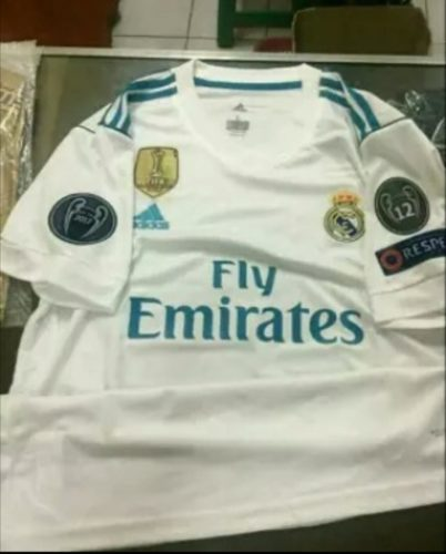 Jersey Real Madrid Home 2017-2018 Full Patch