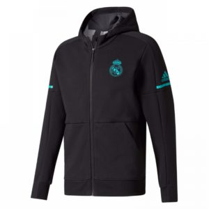 Jaket Hoodie Real Madrid Away Black 2017-2018
